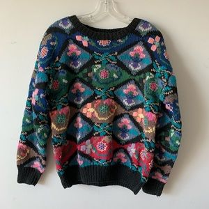 Vintage | Hand Knitted Floral Sweater